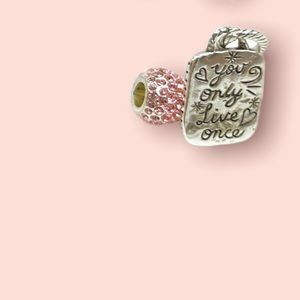 """BRIGHTON charm """"You only live once"""" ABC slide charm / pendant   Brighton RETIRED"""